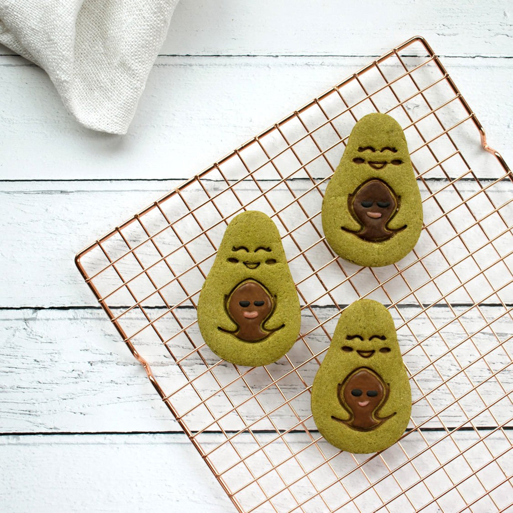 avocado mother and child matcha cookies
