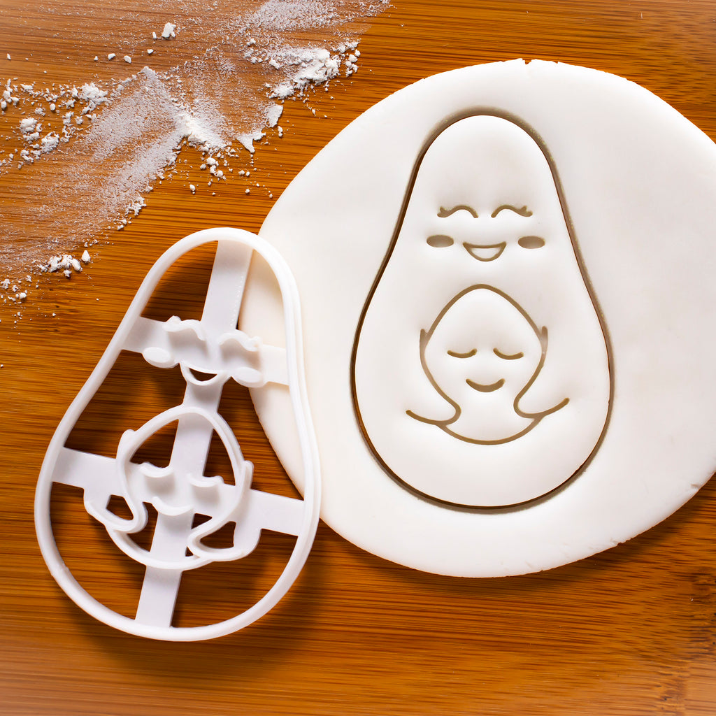 Avocado Mother and Child Cookie Cutter