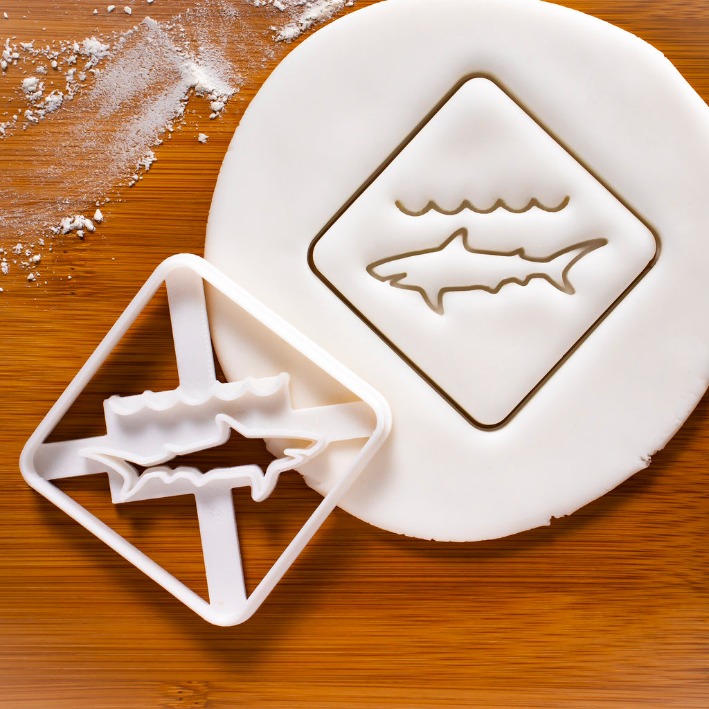 Shark Warning Sign Cookie Cutter