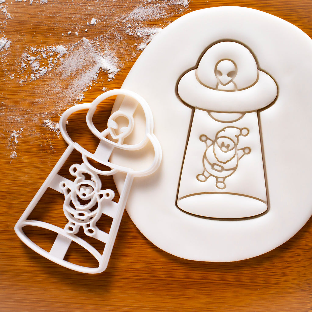 UFO Santa Claus Abduction Cookie Cutter