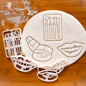 Set of 3 Dentistry Cookie Cutters