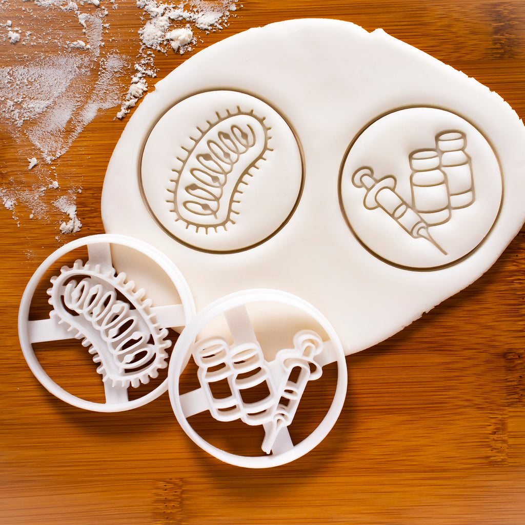 Rabies Virus and Vaccine Cookie Cutters