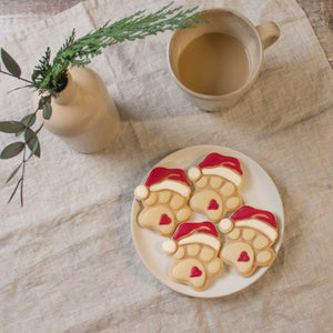 cute christmas hat santa paw cookies