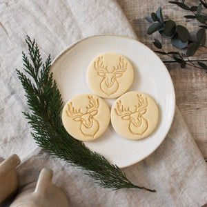 forest stag head cookies