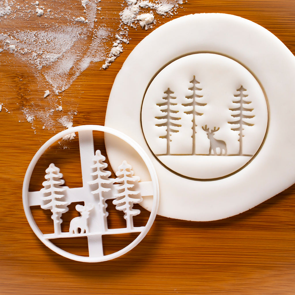 Stag Forest Cookie Cutter
