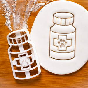 Dog Pill Bottle Cookie Cutter