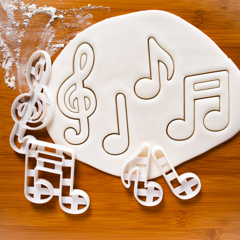 Set of 3 Musical Notes Cookie Cutters