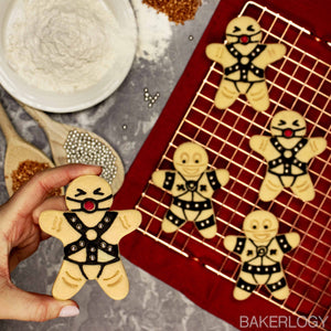 BDSM Submissive gingerbread man with ball gag cookies