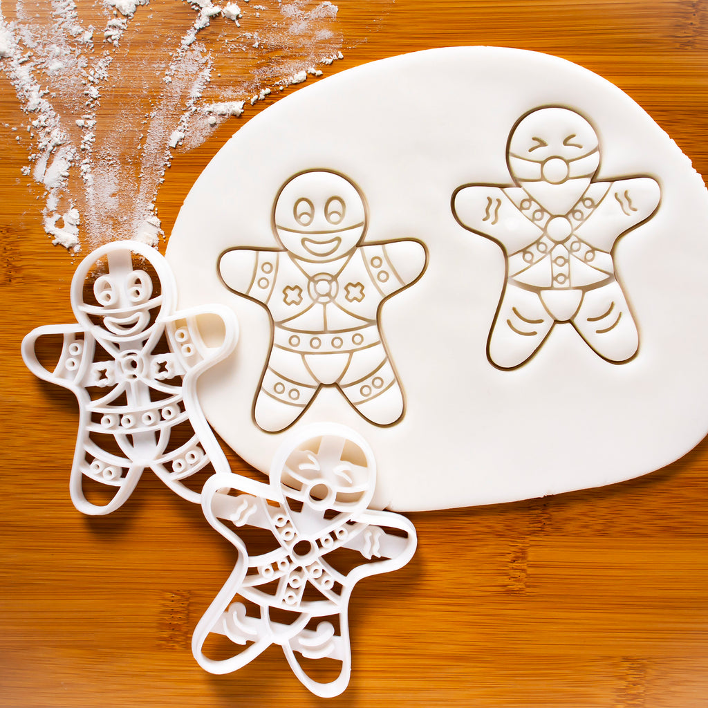 Set of 2 BDSM Gingerbread Man Cookie Cutters (Dominant and Submissive)