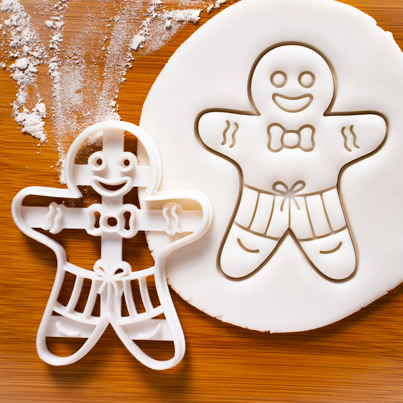 summer gingerbread man in shorts cookies