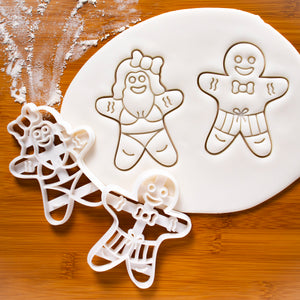 Summer Shorts Gingerbread Man & Summer Bikini Gingerbread Woman Cookie Cutters