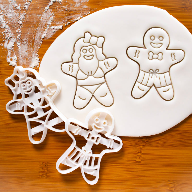 summer gingerbread woman in bikini cookies