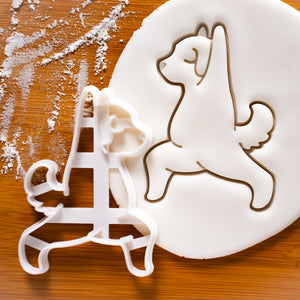 Yoga Dog Warrior Pose 1 Cookie Cutter