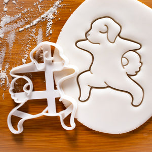 Yoga Dog Warrior Pose 2 Cookie Cutter