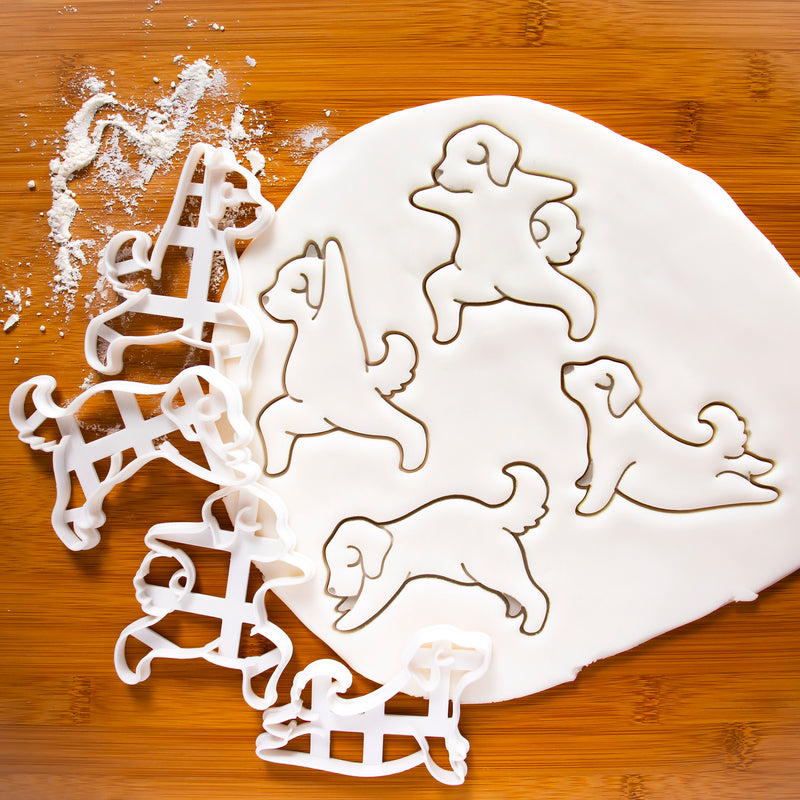 Set of 4 Yoga Dog Cookie Cutters