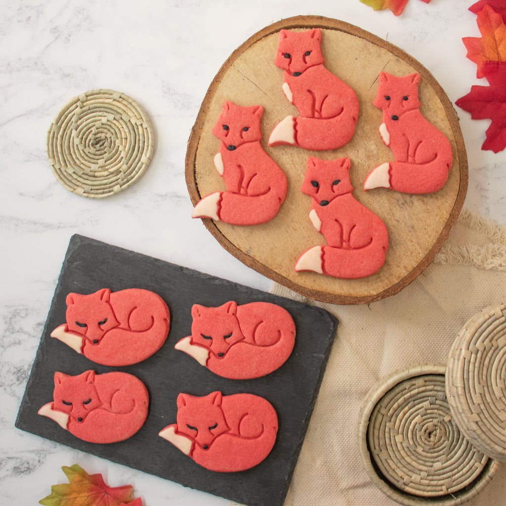 autumn fox cookies