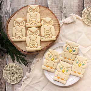 great cute owl and horned owl cookies