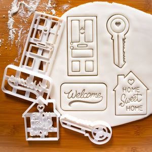 Set of 4 Housewarming Cookie Cutters
