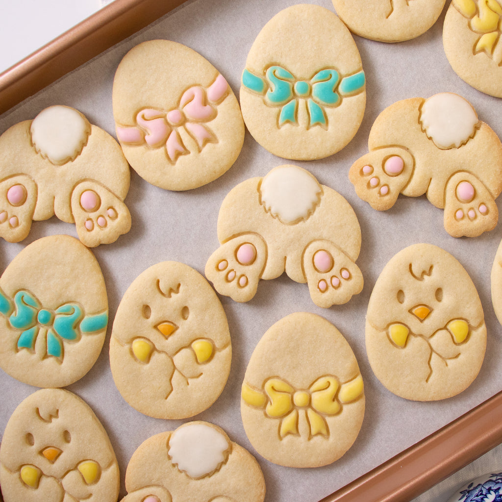 Set of 3 Easter themed Cookies: Bunny Butt, Easter Egg, and Easter Chick