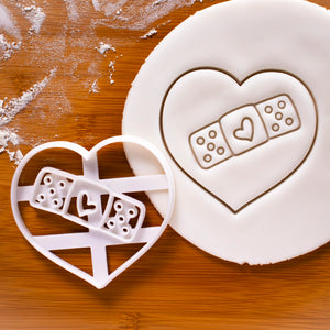 Heart Bandage Cookie Cutter
