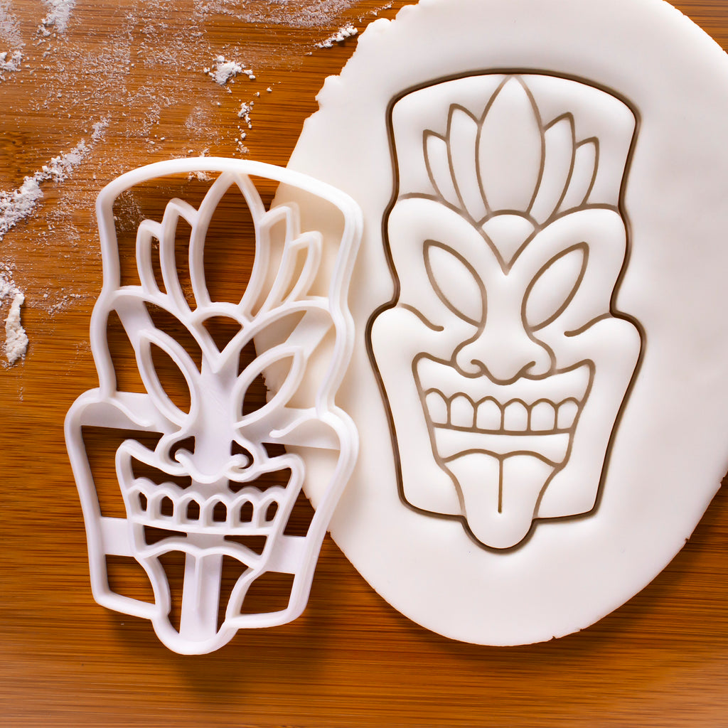 Warrior Tiki Mask Cookie Cutter