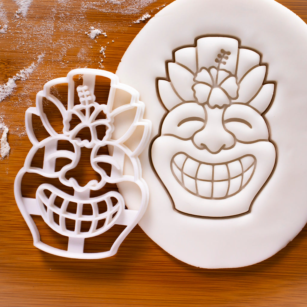Happy Tiki Mask Cookie Cutter