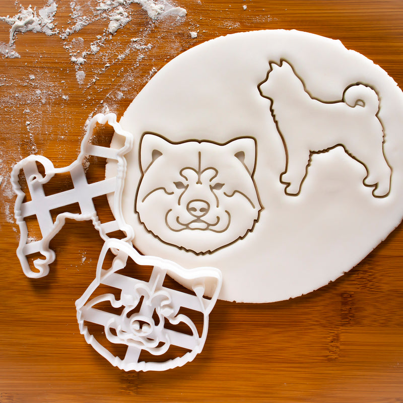Set of 2 Akita Inu cookie cutters