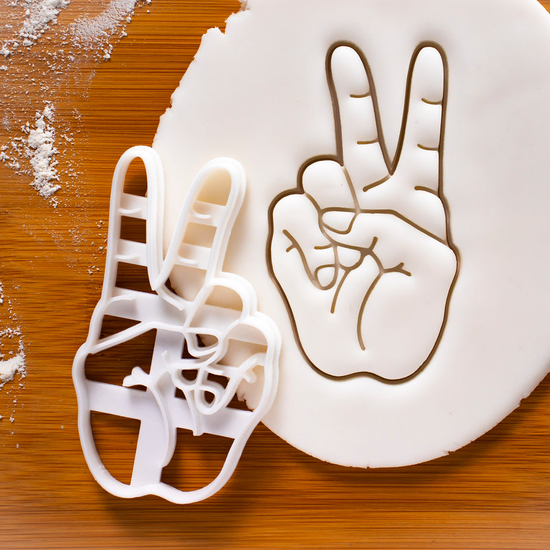 Victory Hand Sign Cookie Cutter