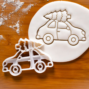 Christmas Tree on Car Cookie Cutter