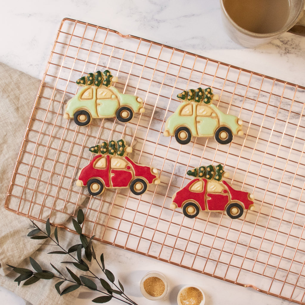 Christmas Tree on Car Cookies