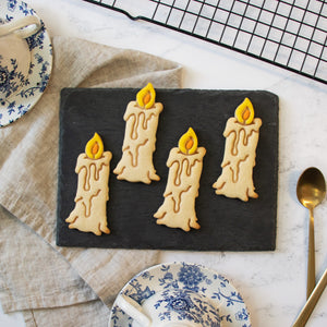 halloween witch candle cookies