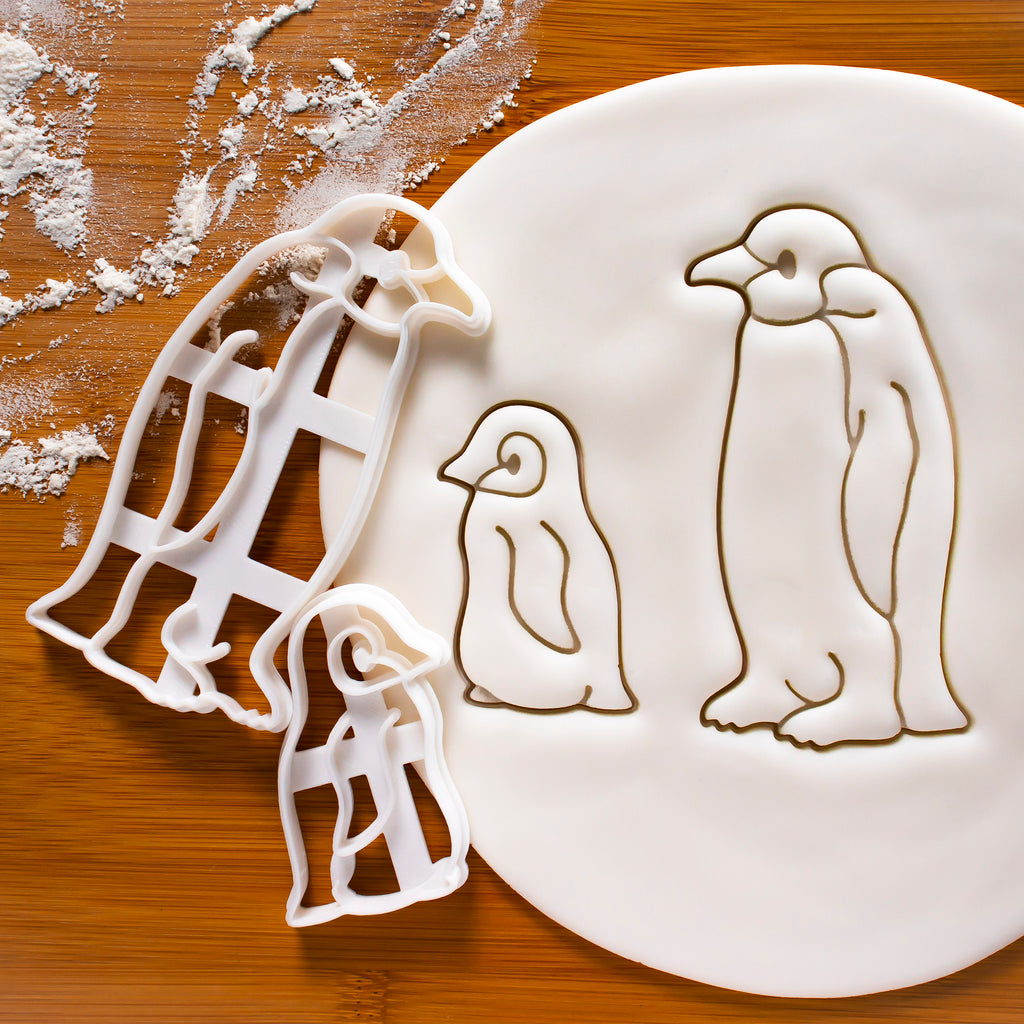 Set of 2 Baby and Emperor Penguin Cookie Cutters