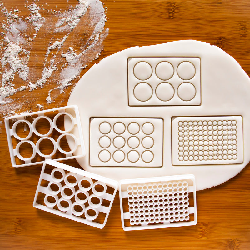 Set of 3 Laboratory Well Plate Cookie Cutters
