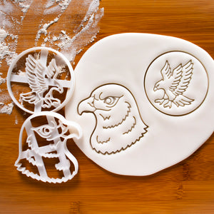 Set of 2 Hawk Cookie Cutters