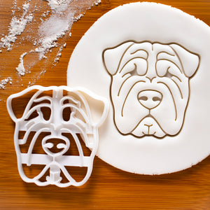 Shar Pei Face cookie cutter