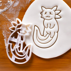 cute axolotl cookie cutter