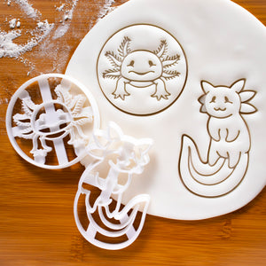 Cute and Realistic Axolotl Cookie Cutters