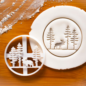 Forest Moose cookie cutter