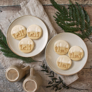 set of 2 forest moose and bear cookies