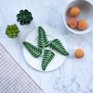 fern leaf cookies