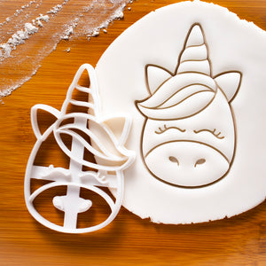 cute unicorn face cookie cutter