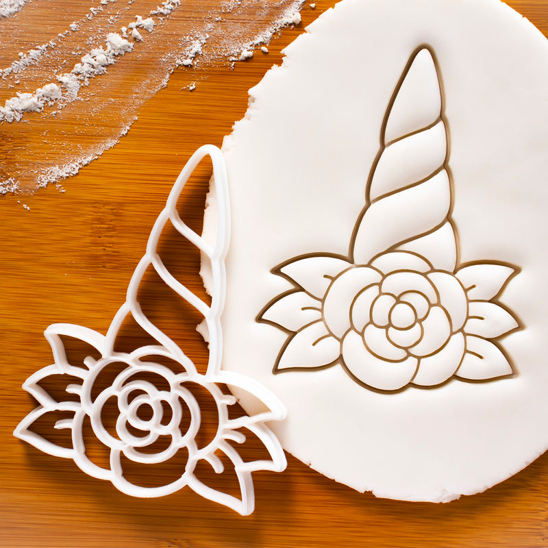 Unicorn Floral Horn Cookie Cutter