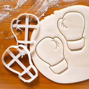 Set of 2 Boxing Glove Cookie Cutters (back view)