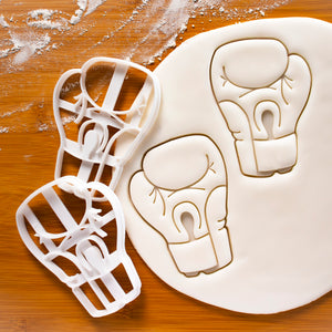 Set of 2 Boxing Glove Cookie Cutters (palm view)