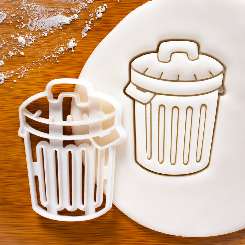 Rubbish Bin (Garbage Trash Can) Cookie Cutter