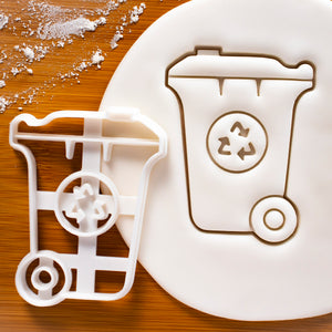 Recycling Wheelie Bin Cookie Cutter