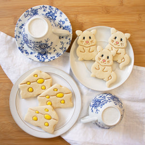 cute mouse and cheese cookies