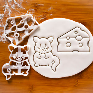 Cute Mouse and Swiss Cheese Cookie Cutters