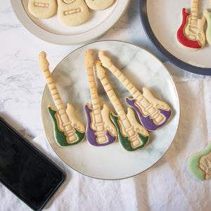 electric bass guitar cookies
