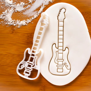 Electric Bass Guitar Cookie Cutter
